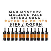 Mad Mystery McLaren Vale Shiraz Dozen - rated 94 points